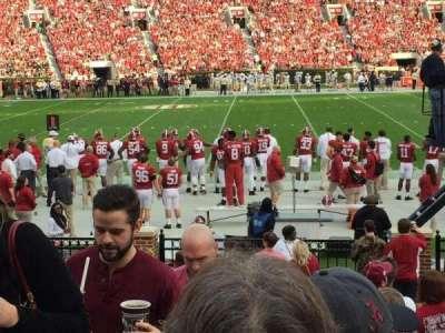 Bryant-Denny Stadium, section: M, row: 9, seat: 20