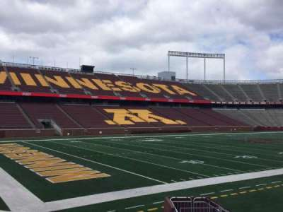 TCF Bank Stadium, section: 126, row: 10, seat: 16