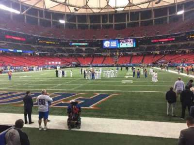 Georgia Dome, section: 124, row: 1, seat: 5