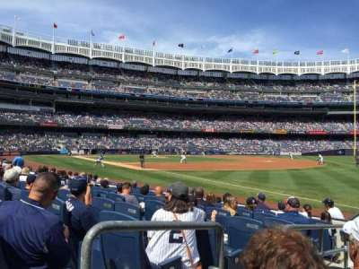 Yankee Stadium, section: 011, row: 7, seat: 9