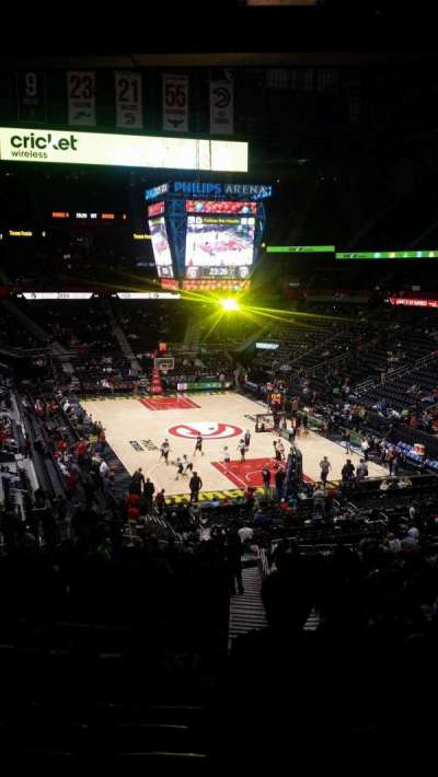 Philips Arena, section: 221, row: G, seat: 3-4