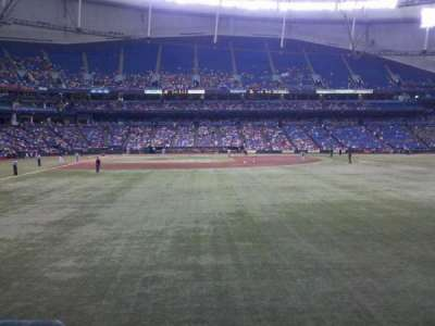 Tropicana Field, section: 144, row: U, seat: 2
