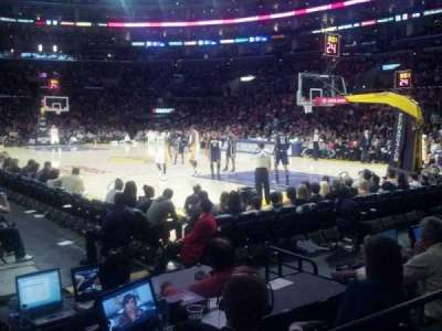 Staples Center Section 108 Row 3 Seat 13