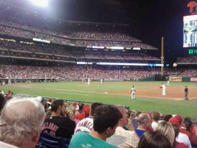 Citizens Bank Park, section: 114, row: 13, seat: 1
