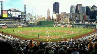 Pnc Park Section 116 Row Aa Seat 10