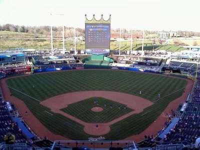 Kauffman Stadium, section: 415, row: A, seat: 4