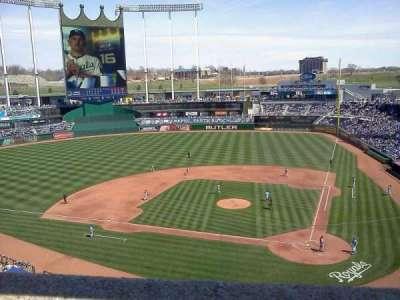 Kauffman Stadium, section: 415, row: A, seat: 3