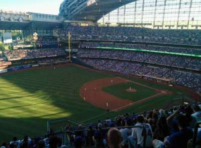 Miller Park, section: 434, row: 20, seat: 5
