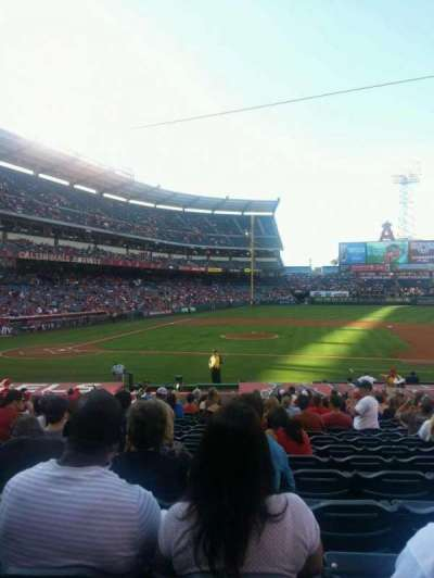 Angel Stadium, section: F124, row: V, seat: 10