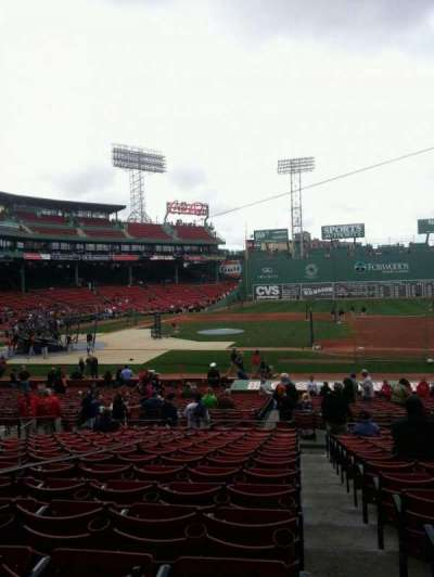 Fenway Park, section: Grandstand 15, row: 1, seat: 14