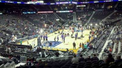 Philips Arena, section: 108, row: Q, seat: 13