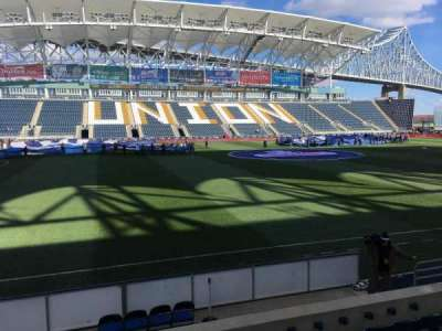 Talen Energy Stadium, section: 109, row: G, seat: 10