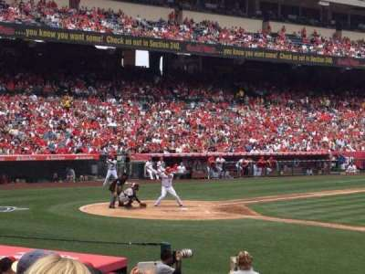 Angel Stadium, section: F124, row: P, seat: 18