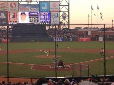 AT&T Park, section: 116, row: 25, seat: 10