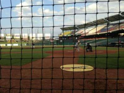 Chickasaw Bricktown Ballpark, section: 107, row: B, seat: 1