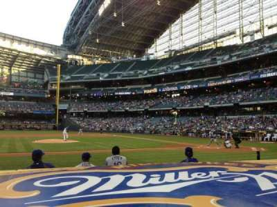 Miller Park, section: 122, row: 5, seat: 2