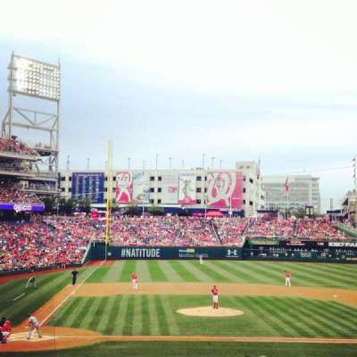 Nationals Park, section: 127, row: KK, seat: 1
