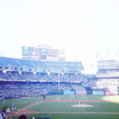 Oakland Alameda Coliseum, section: 114, row: 17, seat: 1