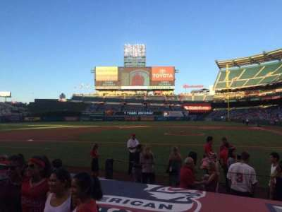 Angel Stadium, section: F113, row: E, seat: 5