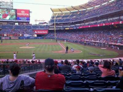 Angel Stadium, section: F114, row: W, seat: 3