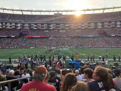 Gillette Stadium, section: 109, row: 13, seat: 20
