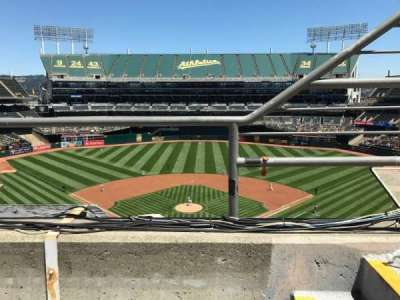 Oakland Alameda Coliseum, section: 317, row: 1, seat: 2