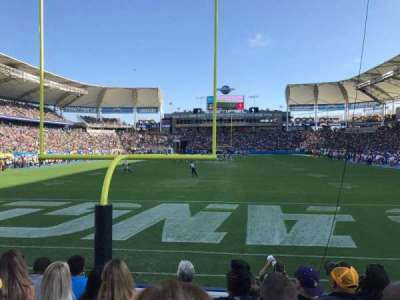 StubHub Center, section: 121, row: E, seat: 21