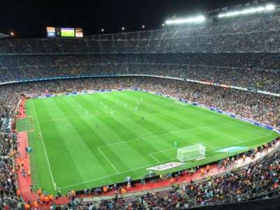 Camp Nou, section: 416, row: 1, seat: 10