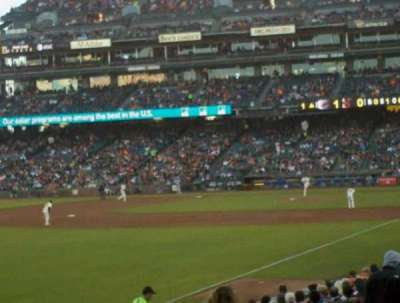 AT&T Park, section: LB134, row: 22, seat: 7