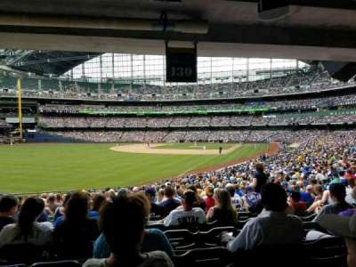 Miller Park, section: 130, row: 29, seat: 10