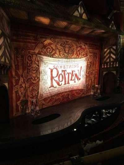 St. James Theatre, section: MezzL, row: A, seat: 17