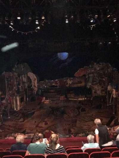 Neil Simon Theatre, section: Front mezz, row: H, seat: 112