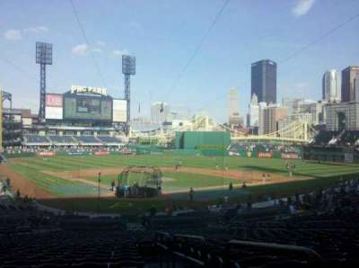 PNC Park, section: 115, row: BB, seat: 18
