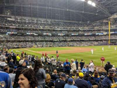 Miller park, section: 108, row: 15, seat: 2