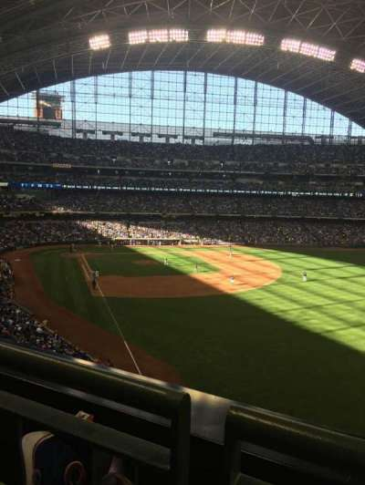 Miller Park, section: 306, row: 1, seat: 4