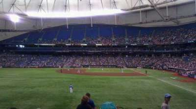 Tropicana Field, section: 143, row: JJ, seat: 24