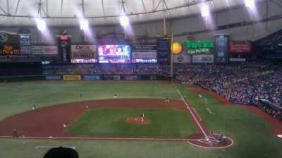 Tropicana Field, section: 209, row: F, seat: 22