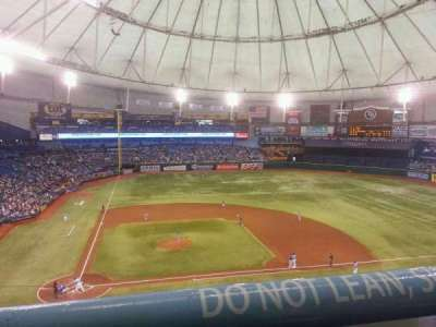 Tropicana Field, section: 310, row: A, seat: 1
