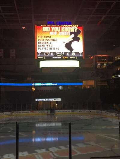 PPL Center, section: 121, row: 8, seat: 17