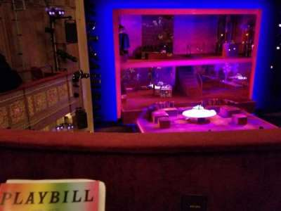 Booth Theatre, section: Mezzanine L, row: B, seat: 3
