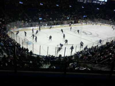 Amalie Arena, section: CLB1, row: C, seat: 13