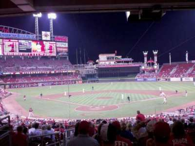 Great American Ball Park, section: 124, row: O, seat: 17