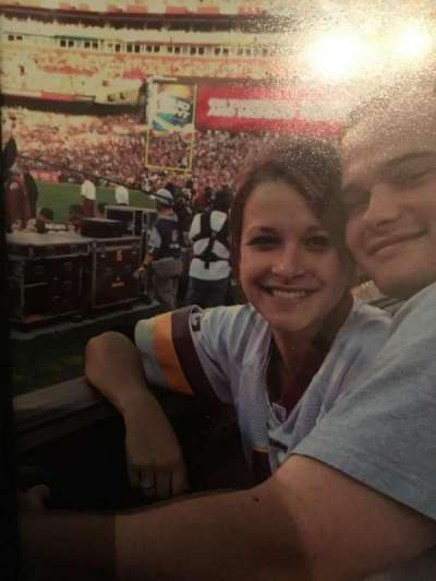 FedEx field, section: 103, row: 1, seat: 1