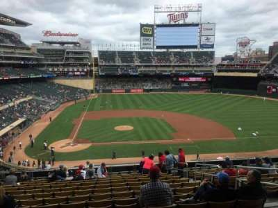 Target Field, section: D, row: 9, seat: 7
