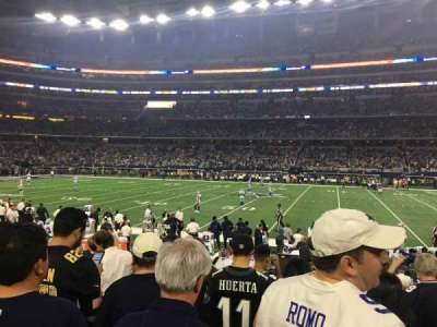 AT&T Stadium, section: C110, row: 7, seat: 5