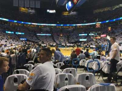 Chesapeake Energy Arena, section: 112, row: JJ, seat: 3