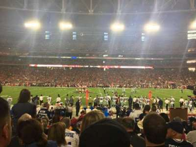 University of Phoenix Stadium, section: 129, row: 11, seat: 4