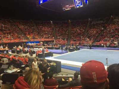 Jon M. Huntsman Center, section: K, row: 6, seat: 3