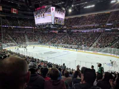 T-Mobile Arena, section: 18, row: V, seat: 10