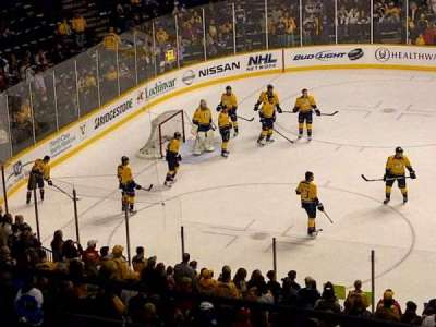 Bridgestone Arena, section: 208, row: F